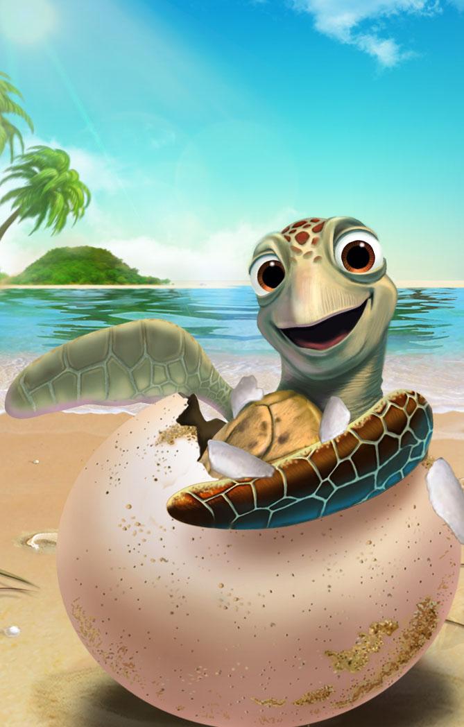 海龟的出生