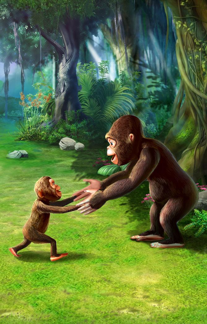 小猩猩找妈妈